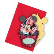6 Invitation Cupcake Minnie