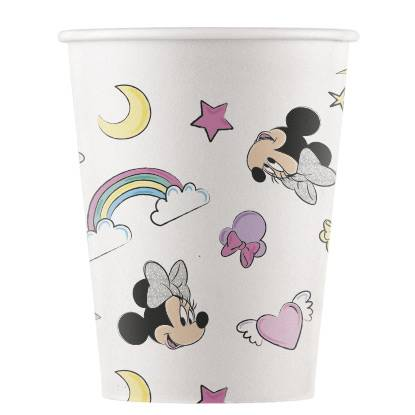 8 Gobelets Minnie Licorne - Compostable