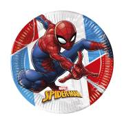 8 Assiettes Spiderman - Compostable