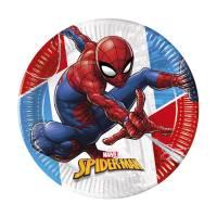 Contient : 1 x 8 Assiettes Spiderman - Compostable