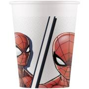 8 Gobelets Spiderman - Compostable