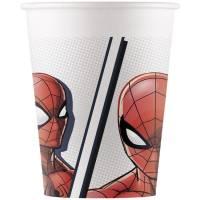 Contient : 1 x 8 Gobelets Spiderman - Compostable