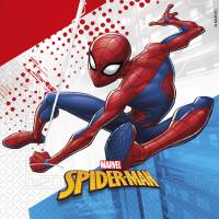 Contient : 1 x 20 Serviettes Spiderman
