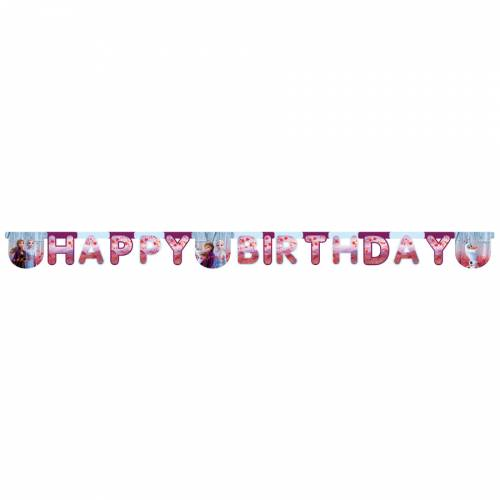 Guirlande Happy Birthday - La Reine des Neiges 2