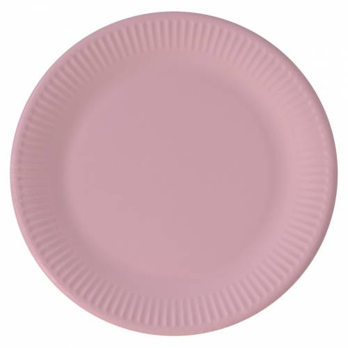 8 Assiettes Rose - Compostable