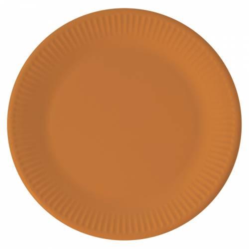 8 Assiettes Orange - Compostable