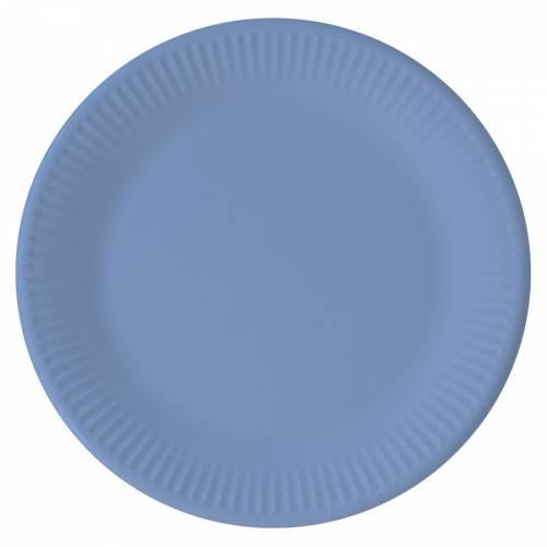 8 Assiettes Bleu - Compostable