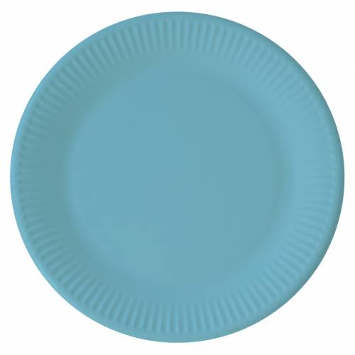 8 Assiettes Turquoise - Compostable