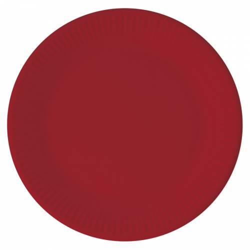 8 Assiettes Rouge - Compostable