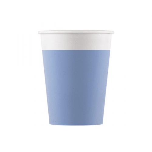 8 Gobelets Bleu - Compostable