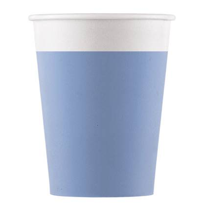 8 Gobelets Bleu - Compostable