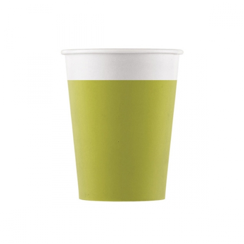 8 Gobelets Vert Anis - Compostable