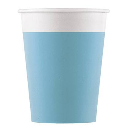 8 Gobelets Turquoise - Compostable