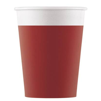 8 Gobelets Rouge - Compostable