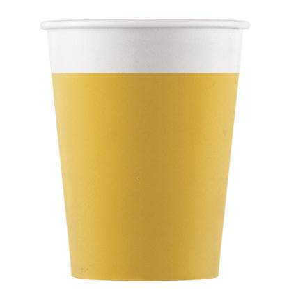 8 Gobelets Jaune - Compostable