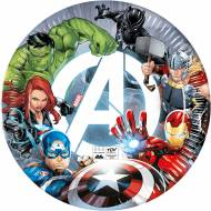 8 Assiettes Avengers - Compostable