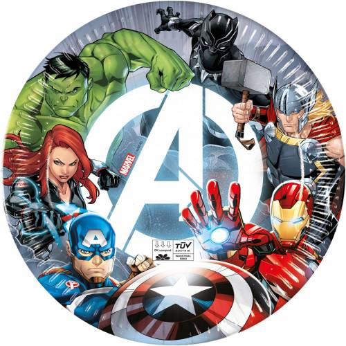 8 Assiettes Avengers - Compostable
