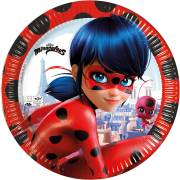 8 Assiettes Miraculous Lady Bug - Compostable