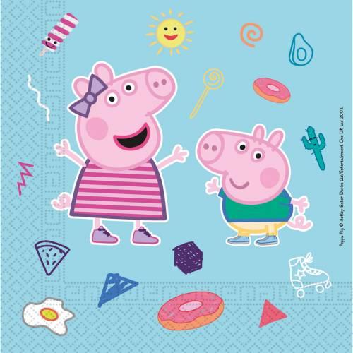 20 Serviettes Peppa Pig - Compostable