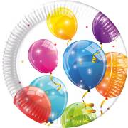 8 Assiettes Ballons - Compostable