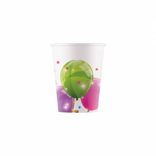 8 Gobelets Ballons - Compostable