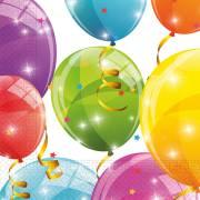 20 Serviettes Ballons