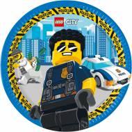 8 Assiettes Lego City