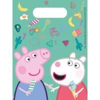 Contient : 1 x 6 Pochettes Cadeaux Peppa Pig Fun