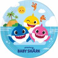 8 Assiettes Baby Shark - Compostable