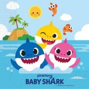 20 Serviettes Baby Shark