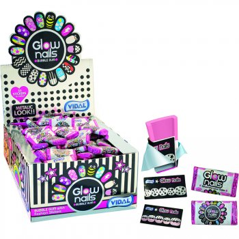 1 Bubble Glow Nails + Stickers d ongles