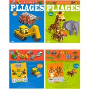 2 Albums Pliages Paper Toys - Animaux /Engins