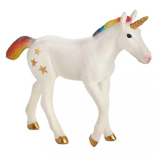 1 Figurine Bébé Licorne Rainbow Stars (10 cm) - Plastique