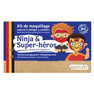 Kit Maquillage 3 Couleurs Ninja & Super Héros BIO