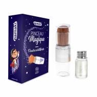 Poudre Scintillante Argentée et son Pinceau Magique