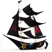 Cerf-volant Traditionnel Bateau Pirate Noir