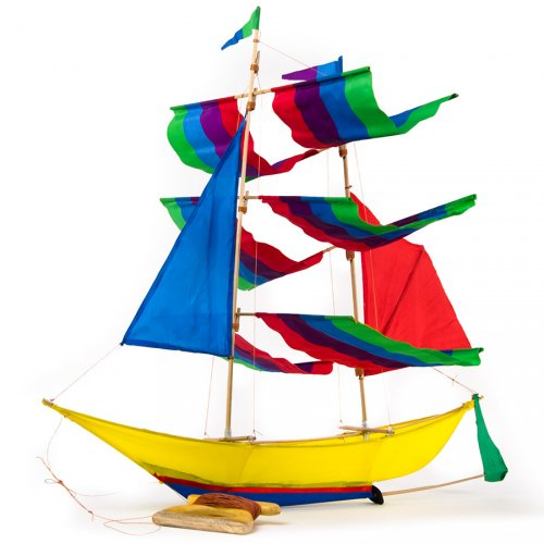Cerf-volant Traditionnel Bateau Multicolore
