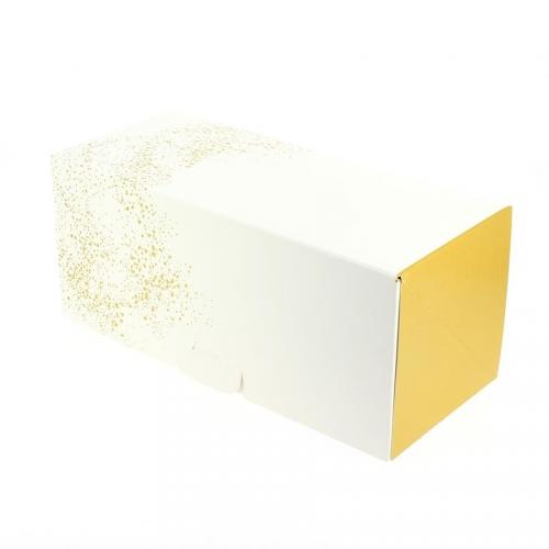 Boîte à Bûche Gold - 25 cm