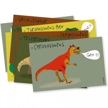 Mes 8 Invitations Dinosaures