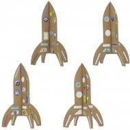 Kit Créatif 4 Fusées à Assembler + Stickers