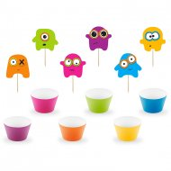 Kit 6 Cupcakes Monster Colors