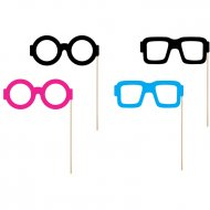 4 Photo Booth Lunettes Monster colors