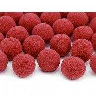 20 Mini Boules Pompons (2 cm) - Rouge