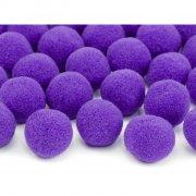 20 Mini Boules Pompons (2 cm) - Violet