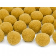 20 Mini Boules Pompons (2 cm) - Orange