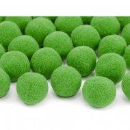 20 Mini Boules Pompons (2 cm) - Vert