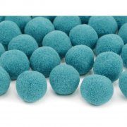 20 Mini Boules Pompons (2 cm) - Bleu