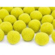 20 Mini Boules Pompons (2 cm) - Jaune