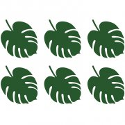 6 Petites Feuilles Aloha (14,5 cm)