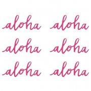 6 Décorations Lettres Aloha (12 cm) - Papier
